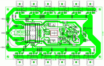 1000W Power Amplifier PCB Layout