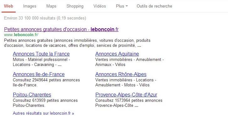 Reponse Prizée Recherche Leboncoinfr En Googlefr I Er Page