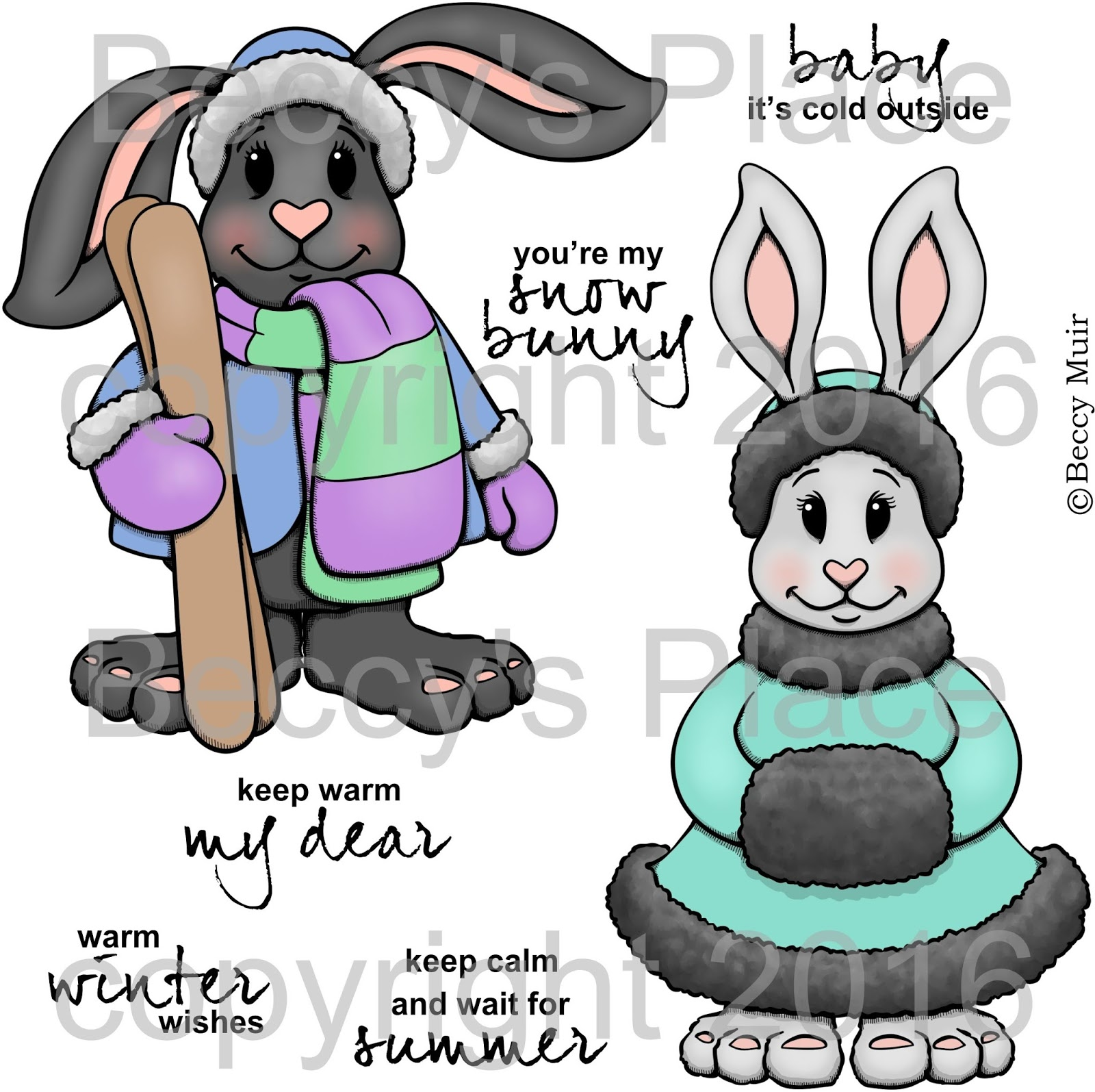 Beccys place new release snow bunnies perfect for winter birthdays and seasonal well wishes this set could also be transformed into christmas and holiday greetings kristyandbryce Gallery