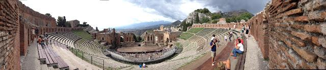 Sicilië - Taormina - Teatro Greco - Panoramic view