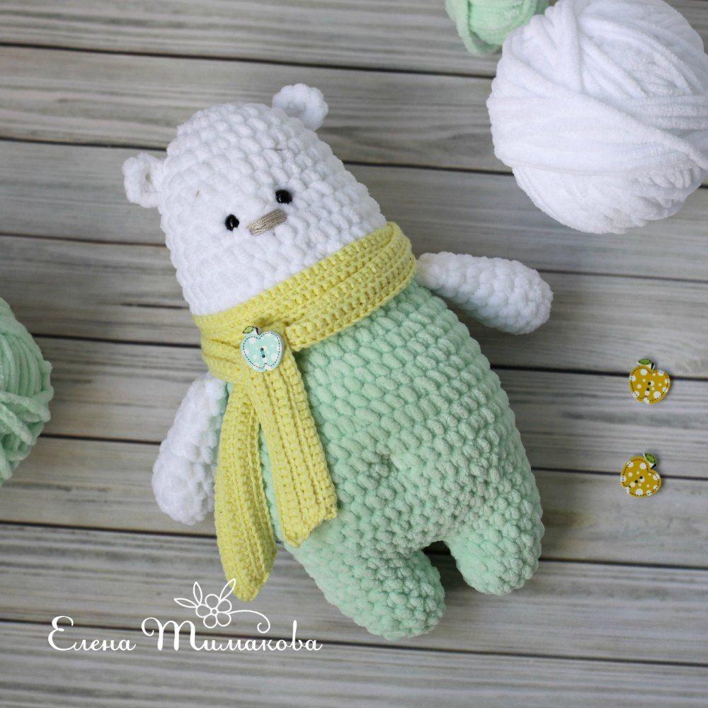 Parker The Polar Bear Crochet Pattern by Yarn Society | 1000x1000