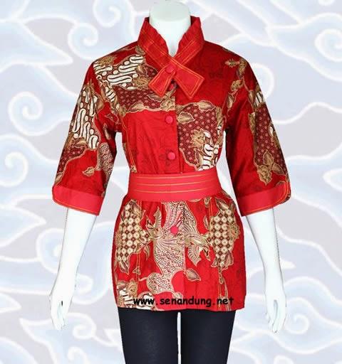 Model Baju Batik Wanita 2015: Baju Blus Atasan Batik Wanita