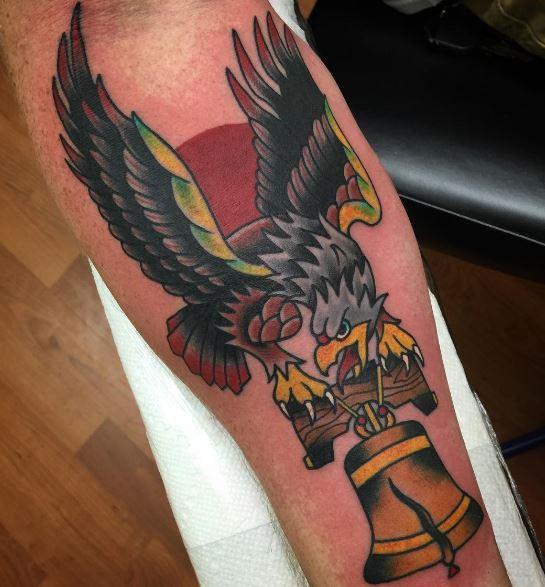 5bc09f3f2 50+ Traditional Eagle Tattoo Designs For Men (2019) | Tattoo Ideas