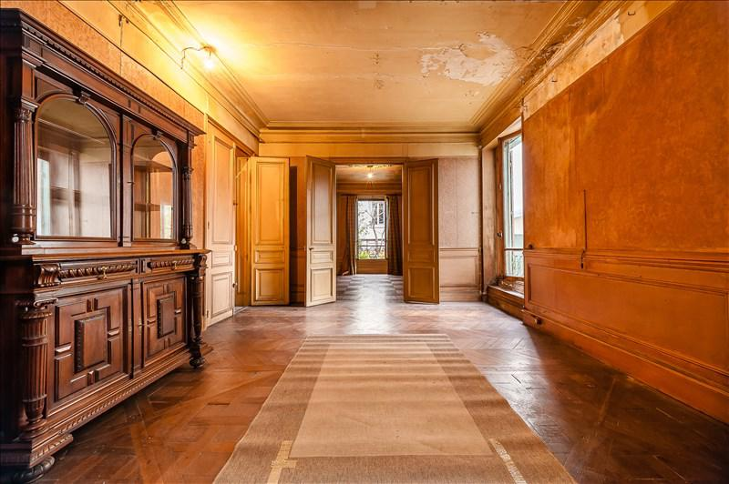 Long magnificent hallway in decaying Paris home for sale in 19th seen on Hello Lovely Studio