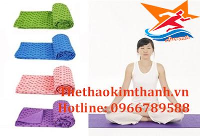 Khăn trải thảm yoga có nhiều màu lựa chọn
