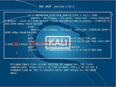 Lupa password kali linux