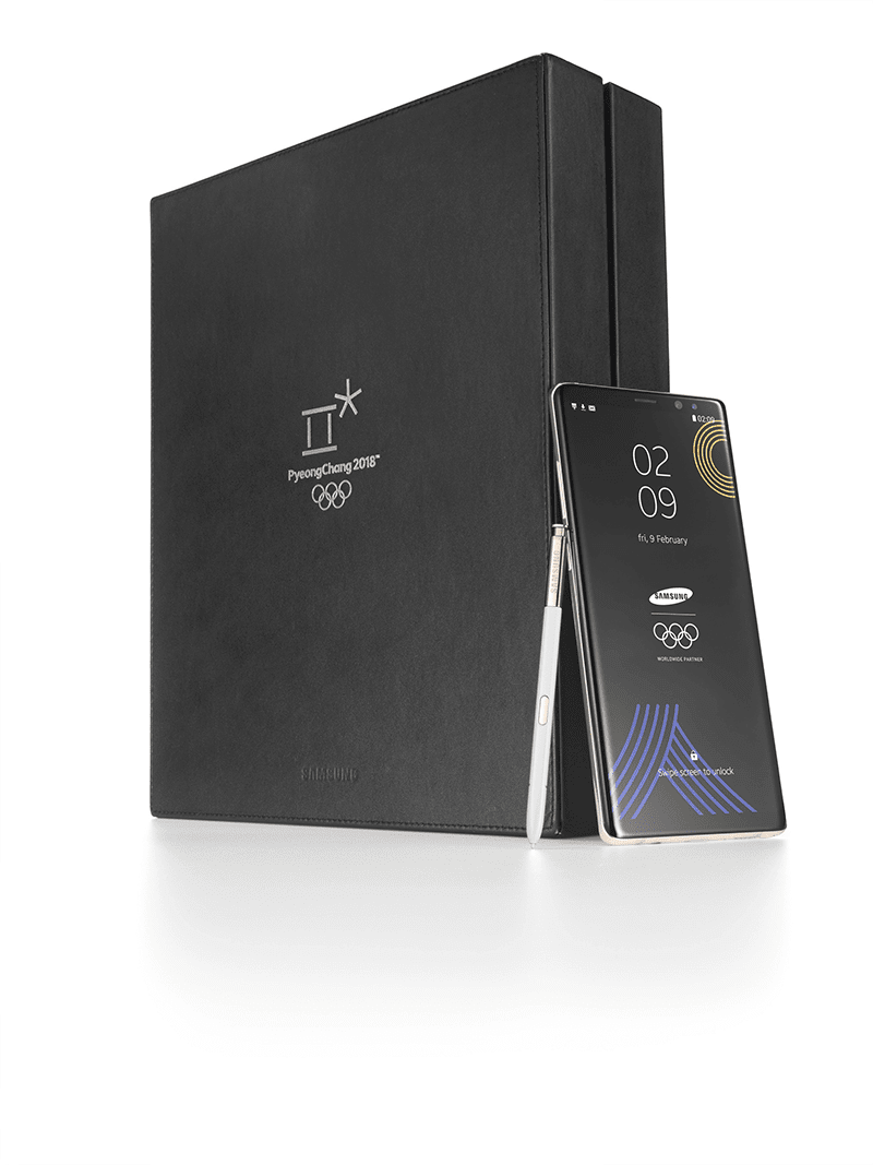 The PyeongChang 2018 Olympic Games Limited Edition Samsung Galaxy Note 8