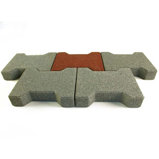 Greatmats Dog Bone Outdoor Paver Tile rubber horse barn