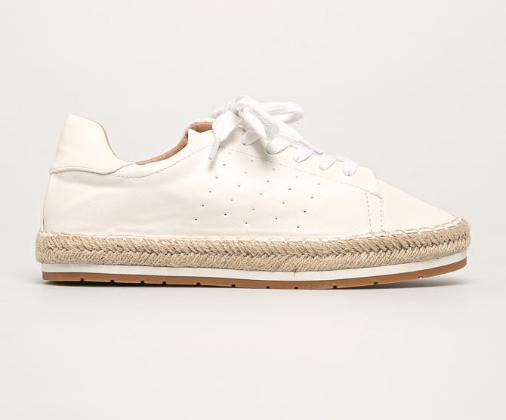 Pantofi casual de dama albi moderni de vara la pret mic