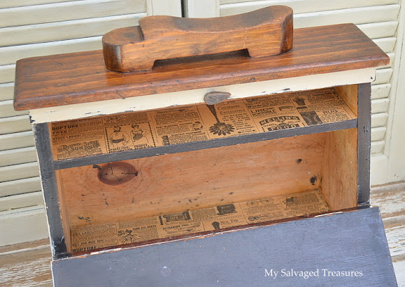 updated vintage shoe shine box