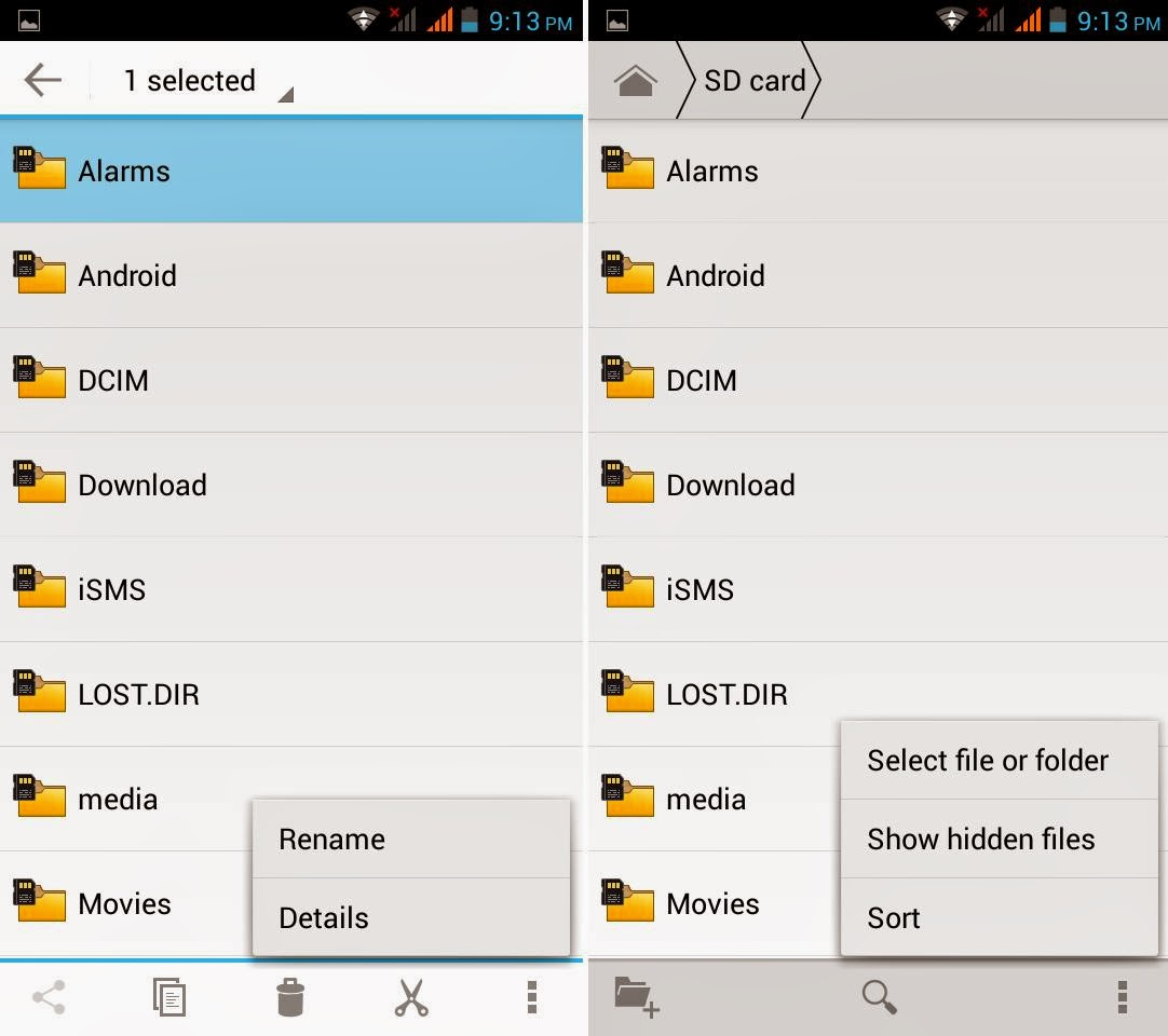 DTC Mobile GT15 Astroid Fiesta File Manager