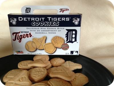 Detroit Tigers Cookies on a plate