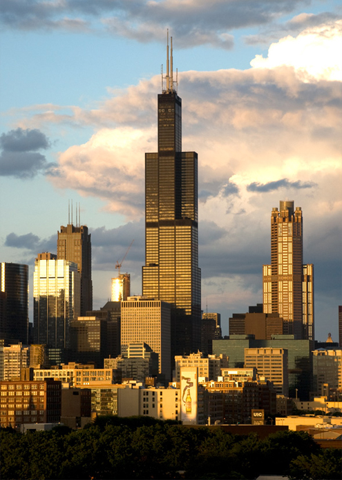 Sears Tower (Willis Tower), Chicago, IL, USA, 1970-1974 ...