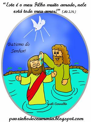 Resultado de imagem para imagem e desenhos infantil sobre o batismo do senhor