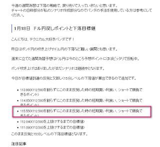 1月23日 ドル円 今日の予想
