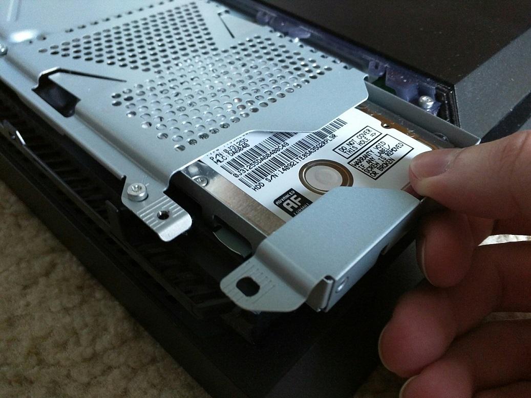 PS4 internal hard drive upgrade