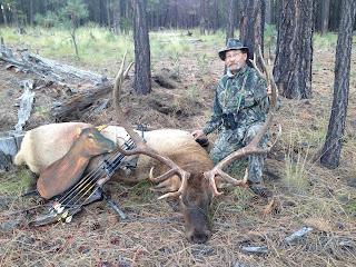 arizona elk killed with heads up decoy