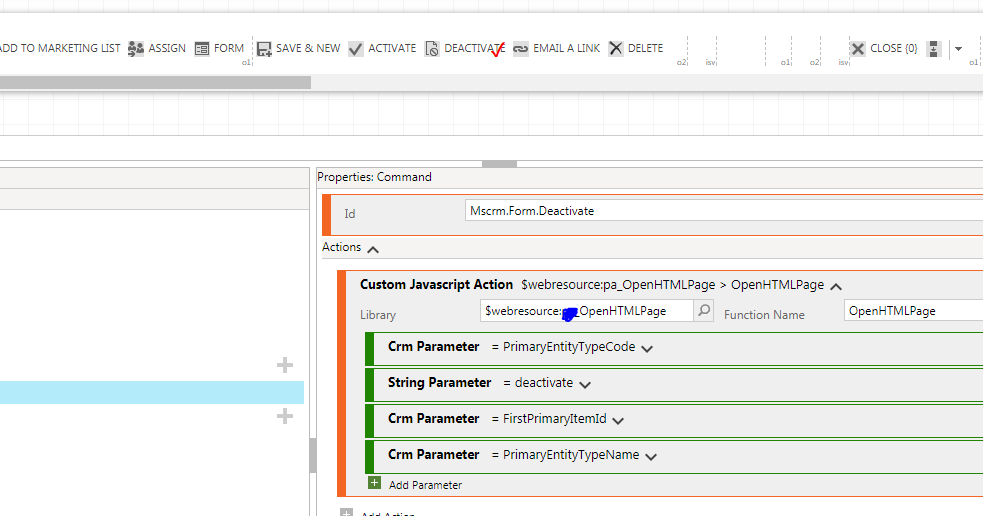 Microsoft Dynamics CRM: HTML Page + Xrm Internal openDialog with