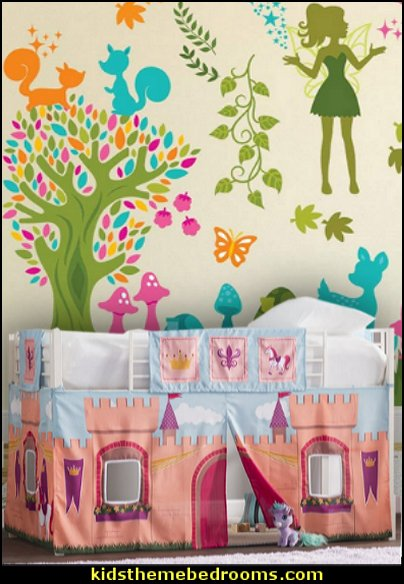 Fairytale Forest Wall Sticker Scene Fairy Wall Decals Woodland animal decals