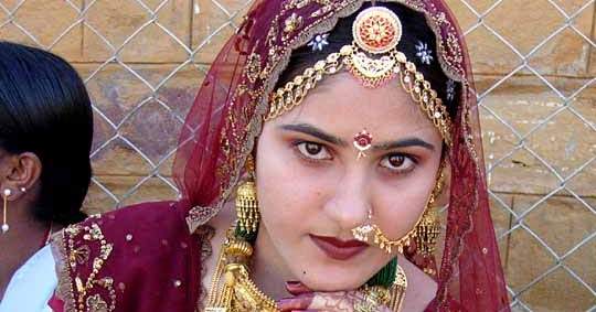 Rajasthani Indian Wedding Bridal Makeup and Hair Style