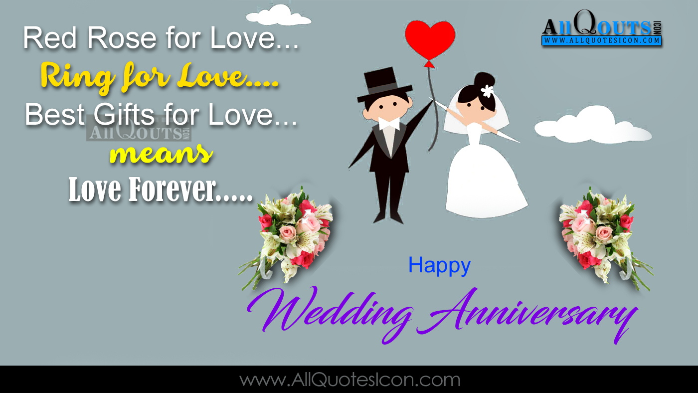 Happy Wedding Anniversary Quotes Wishes Greetings In English Pictures For Friends Images Www Allquotesicon Com Telugu Quotes Tamil Quotes Hindi Quotes English Quotes