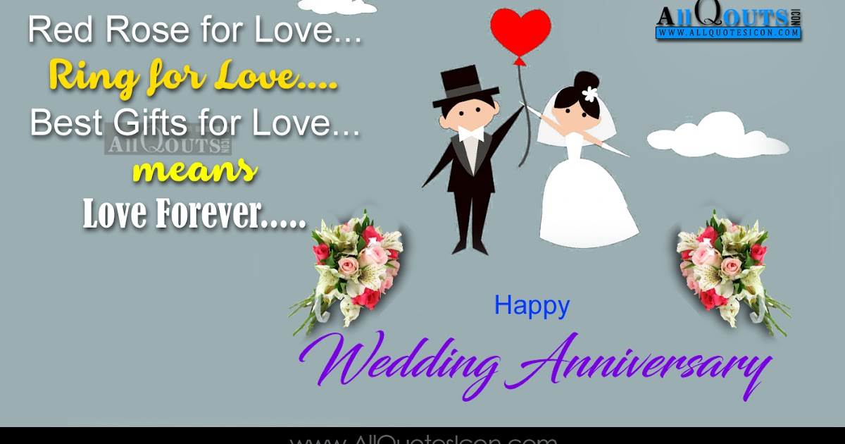 Happy wedding anniversary quotes wishes greetings in