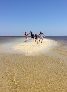 Teenagers on Mashes Sands