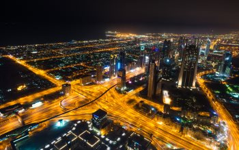 Wallpaper: Dubai landscape during the night