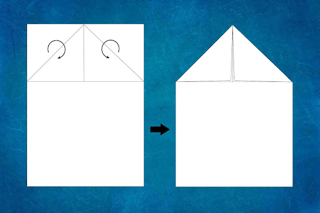 how to make a paper plane step 1