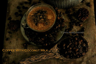 Ice Coffee with Coconut milk