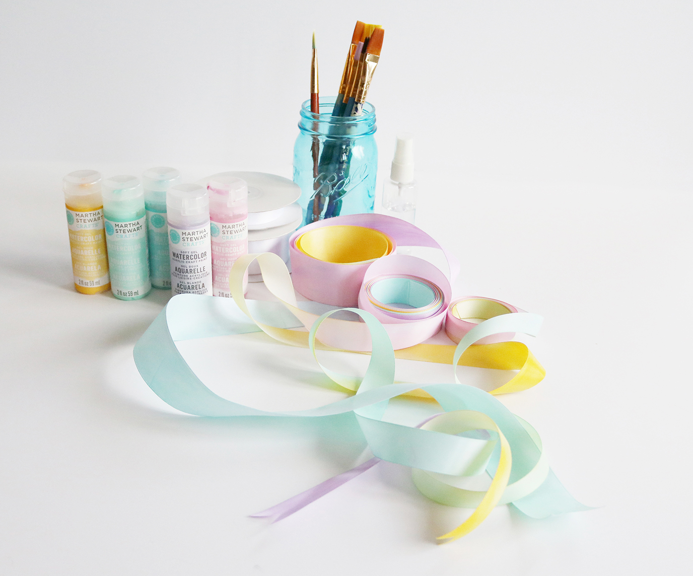 diy watercolour ribbon tutorial | Lorrie Everitt Studio