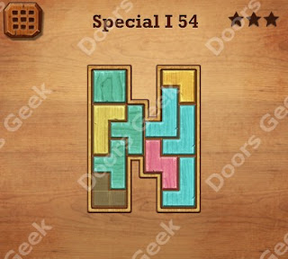 Cheats, Solutions, Walkthrough for Wood Block Puzzle Special I Level 54