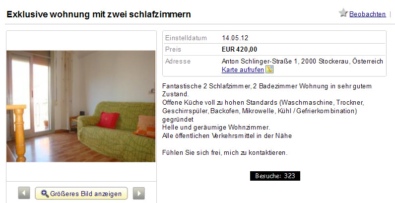 Single wohnung stockerau