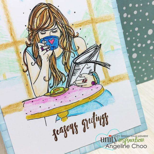 ScrappyScrappy: Winter Coffee Blog Hop with Unity Stamp - How to draw a winter scene #scrappyscrappy #unitystamp #winterclh2016 #christmas #seasonsgreetings #card #cardmaking #coloredpencils #winter #holiday #papercraft #youtube #quicktipvideo