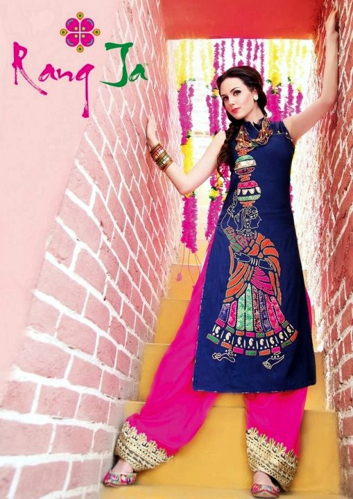 Latest Eid Collection 2012 By Rang Ja Traditional Eid