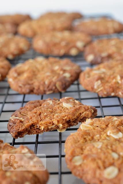 crispy anzac biscuits cookies
