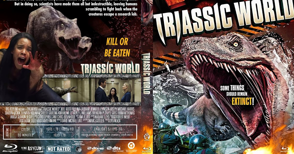 Triassic World Bluray Cover  Cover Addict - Free DVD, Bluray Covers and Movie Posters