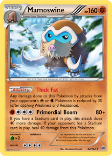 Mamoswine BREAKthrough Pokemon Card