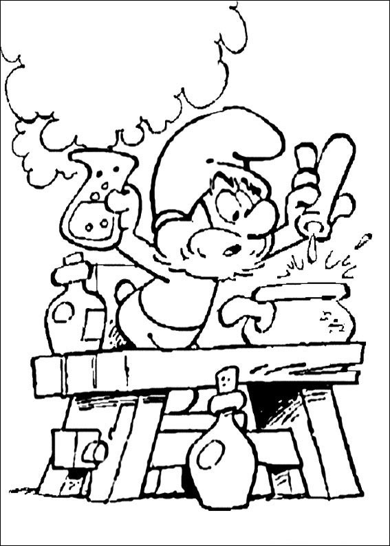 smurfs coloring pages free - photo #44