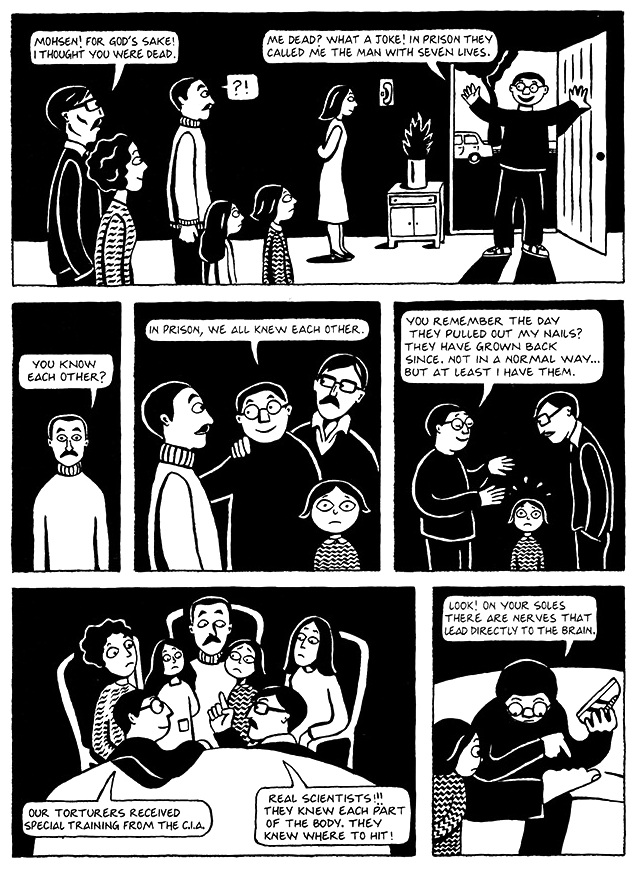 Read Chapter 7 - The Heroes, page 48, from Marjane Satrapi's Persepolis 1 - The Story of a Childhood