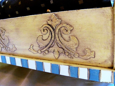 dog bed with stencil and carved look designs