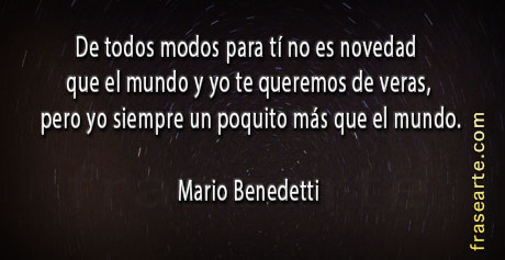 Citas de amor Mario Benedetti