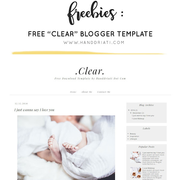 "Freebies : Download Gratis Template Blogspot ""Clear"""