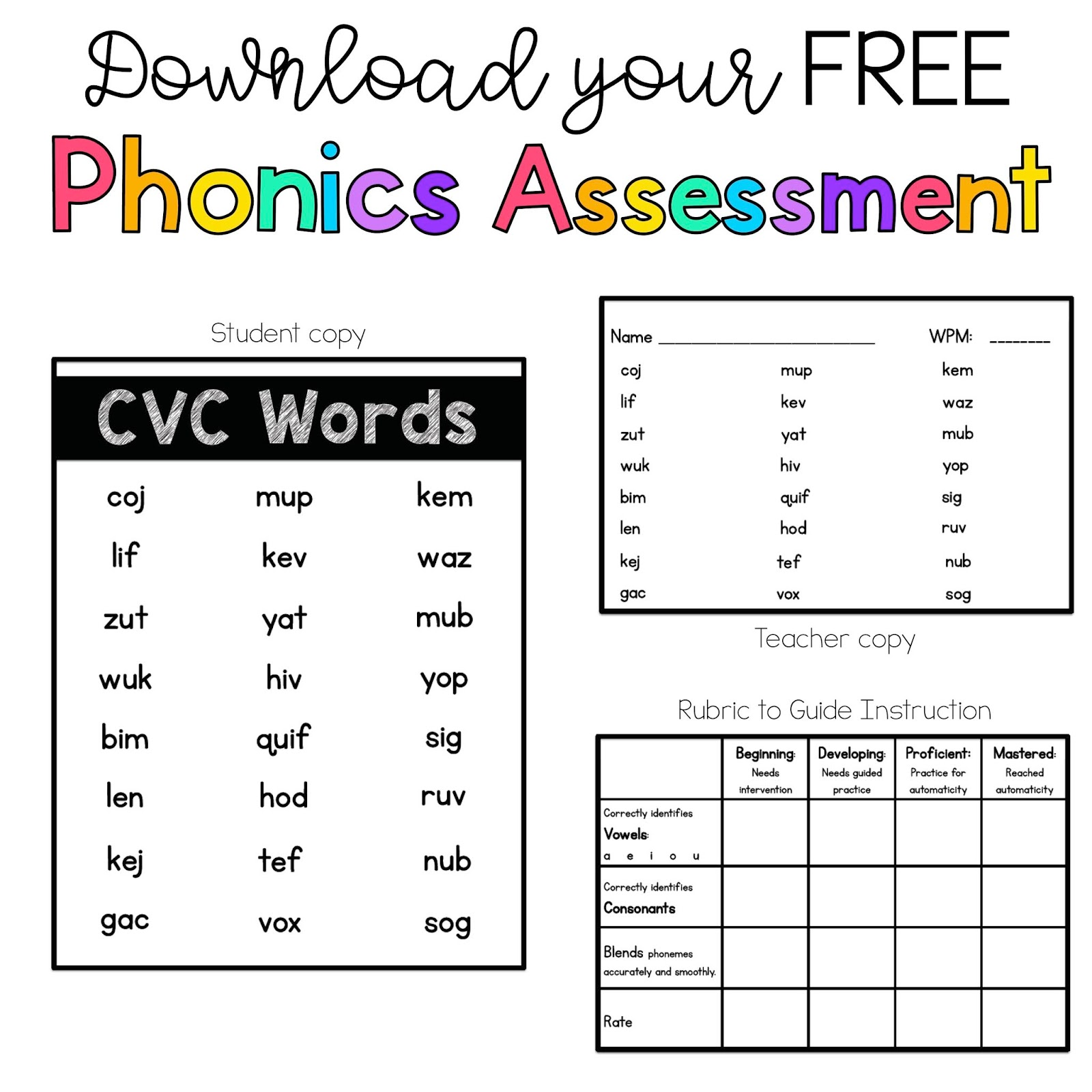 Ll Phonics Double Consonant Word Endings Clip Art