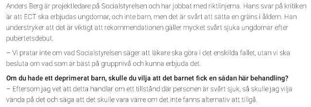 Anders Berg från Socialstyrelsen verkar ha tagit fram riktlinjerna för detta förslag.