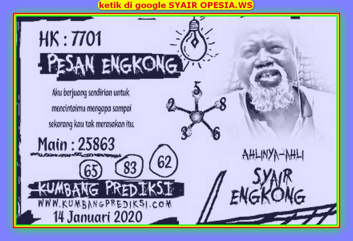 Kode syair Hongkong Selasa 14 Januari 2020 137