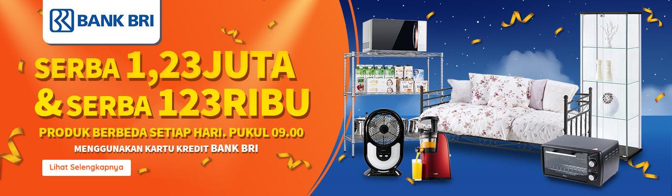 #RupaRupa - Promo Serba 1,23 Jt & Serba 123K di HUT BRI 123 (s.d 20 Des 2018)