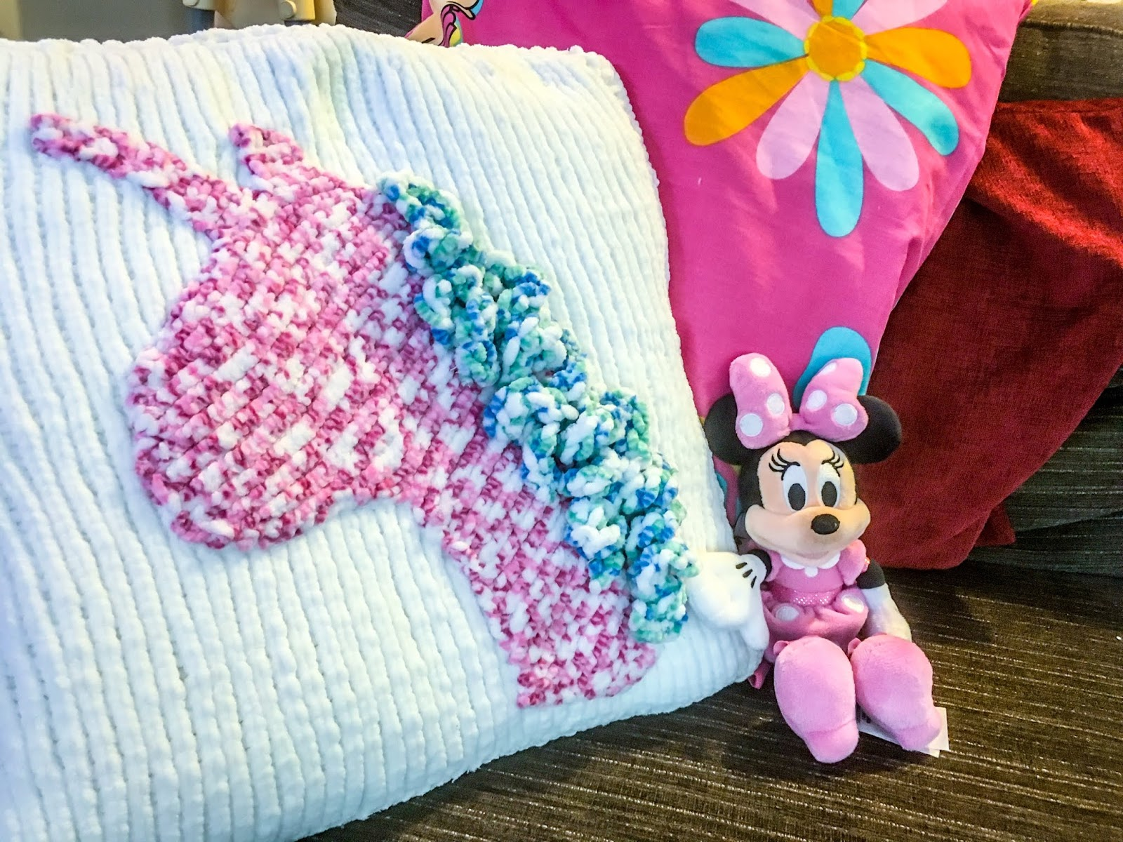 Unicorn cushion cover on Blooming Fiction book blog