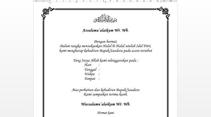 Kumpulan Pembawa Acara Halal Bihalal Idul Fitri Bahasa Sunda Terbaru