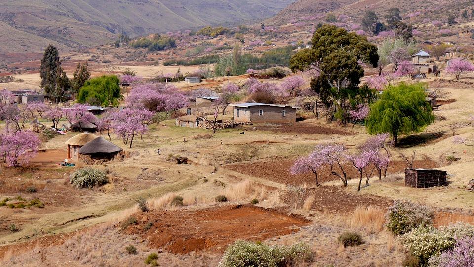 pemandangan di negara lesotho
